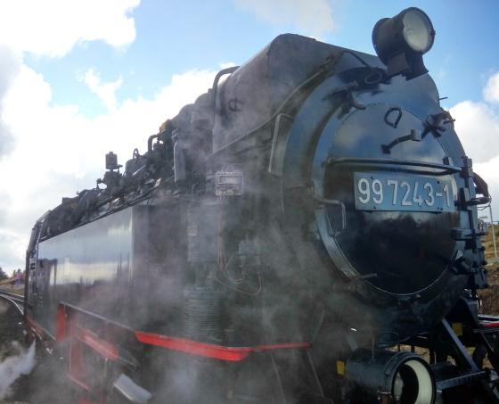 Spirálovitá železniční trať na Brockenu