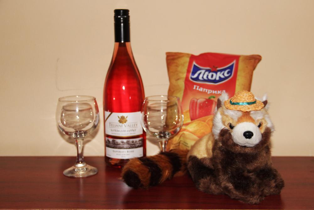 Panda a gruzijské víno